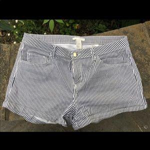 H&M Navy Blue & White Jean Shorts